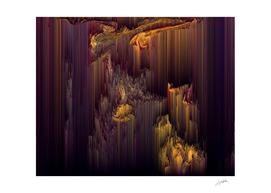 Glitchin' Dark - Abstract Glitch Pixel Art