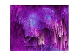 Shatter Falls - Abstract Glitch Pixel Art