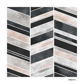 Shimmering Chevron Pattern
