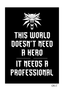 Professional, not a Hero