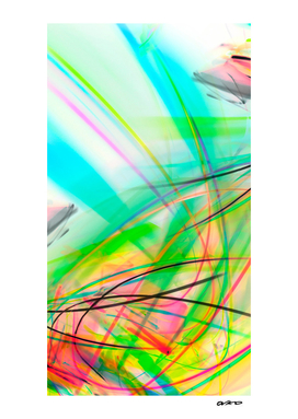 Unconstrained - Colorful Tropical Abstract