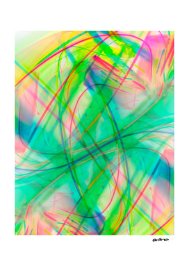 Whimsical Flow - Colorful Tropical Abstract