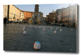Swimmers to piazza Navona