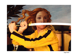 Botticelli's Venus & Beatrix Kiddo in Kill BIll
