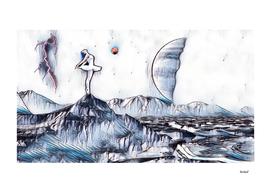 Fantasy Moon Dance Blue & White