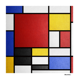 Mondrian in a Leather-Style