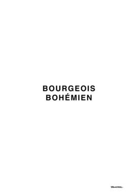 bourgeois bohémien
