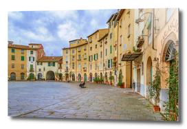 Piazza Anfiteatro, Lucca City, Italy