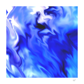 Light Blue silver waves