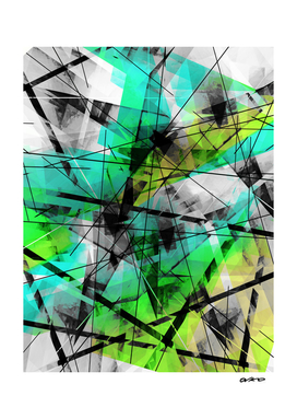 Breaking Boundaries - Futuristic Geometric Abstrct Art