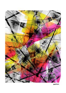 Discourse on Damage - Futuristic Geometric Abstrct Art