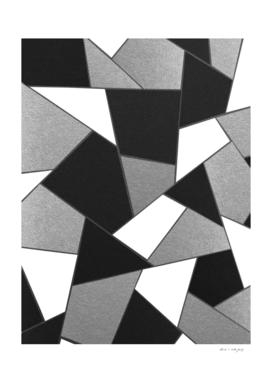 Silver Gray Black White Geometric Glam #1 #geo #decor #art