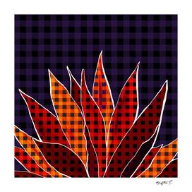 Agave Cactus Warm Autumn Plaid