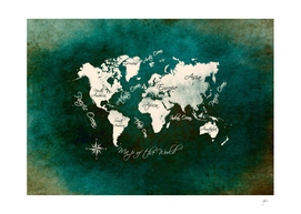 world map dark green