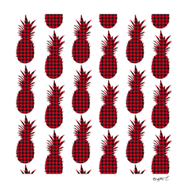 Red Plaid Pineapple Pattern