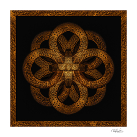 Golden Iron Ornate Mystical Symbol Artwork