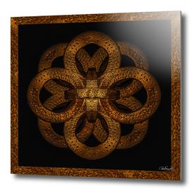 Golden Iron Ornate Mystical Symbol Artwork