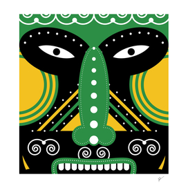 green ritual tribal