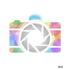 Watercolor Photography camera- Rainbow camera