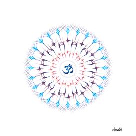 Ohm mandala or Sri Chakra energy generator