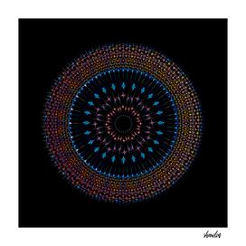 Geometric Mandala representing cosmos