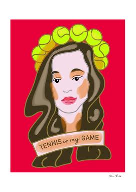 Tennis is My Game Pop-Art Style Portrait