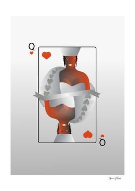 Rihanna as Queen of Hearts Playing Card
