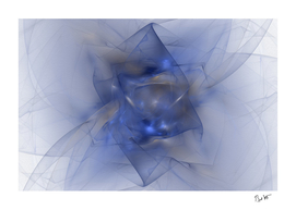 Folds in Blue N Gold Abstract