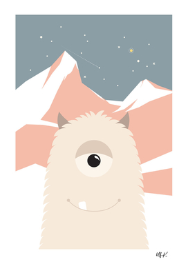 Cute Yeti Monster • Colorful Illustration