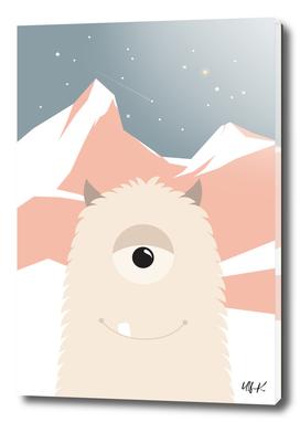 Cute Yeti Monster • Colorful Illustration