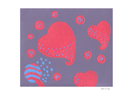 lollipop attacked by hearts