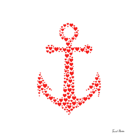 Anchor with heart pattern