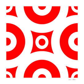 Abstract - red and white.
