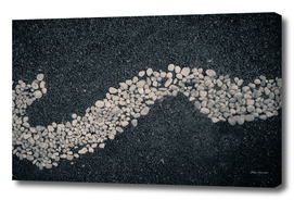 Pebbles stones arranged in an abstract