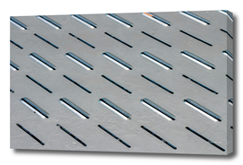 Seamless metal oval holes plate texture