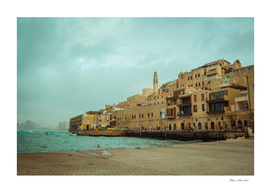 Old Jaffa on a cloudy day
