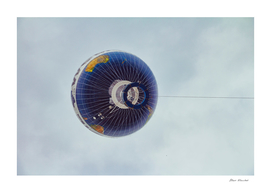 Hot air balloon fly in the sky of Berlin city