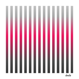 Vertical pinstripes in warm color scheme