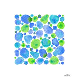 Tropical Sea Glas Watercolor