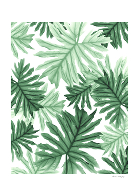 Philo Hope - Tropical Jungle Leaves Pattern #1 #tropical