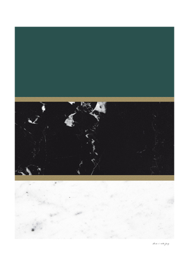 Marble Mix Stripes #4 #black #white #green #gold #decor #art