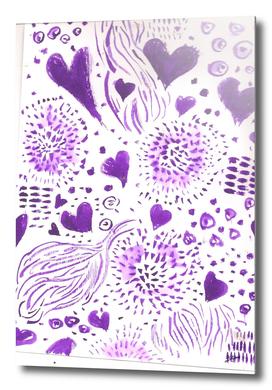 ink doodle fantasy pattern