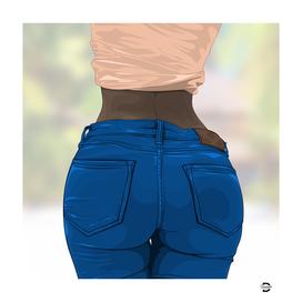 jeans ass