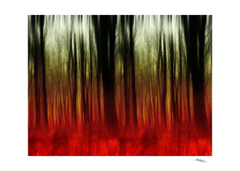 Red abstract forest