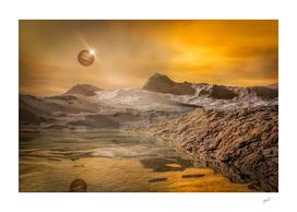 The reflexion of Jupiter