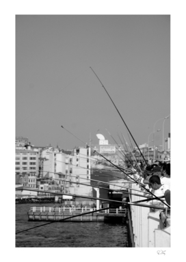 Fisherman in Istanbul