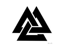 Valknut  symbol, Triangle logo,