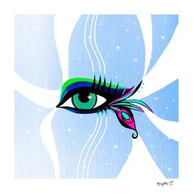 Rainbow Peacock Feather Eyelashes Eye