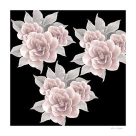 Dreamy Flowers on Black #1 #floral #decor #art