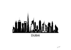 Dubai skyline art